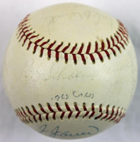 """1968 Cardinals ONL Baseball Team-Signed by (18) With Red Schoendienst, Roger Maris, Julian Javier, Dal Maxvill Inscribed """"1968 Cards"""" (PSA COA) at PristineAuction.com"""