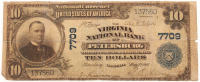 1902 $10 Ten Dollars U.S. National Currency Large Bank Note - The Virginia National Bank of Petersburg, Virginia at PristineAuction.com