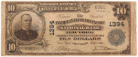 1902 $10 Ten Dollars U.S. National Currency Large Bank Note - The American Exchange Pacific National Bank of New York, New York at PristineAuction.com