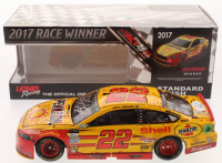 Joey Logano Signed LE NASCAR #22 Shell-Pennzoil Richmond Win 2017 Fusion 1:24 Scale Die Cast Car (JSA COA) at PristineAuction.com
