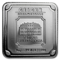 10 gram Geiger Mint Silver Square at PristineAuction.com