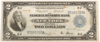 1918 $2 Two Dollar U.S. National Currency Large Bank Note - The Federal Reserve Bank of New York, New York at PristineAuction.com