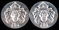 "Lot of (2) 2oz .999 Fine Silver ""Scottsdale Mint"" Stacker Rounds at PristineAuction.com"