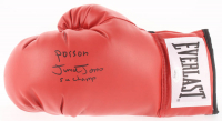 "Junior Jones Signed Everlast Boxing Glove Inscribed ""Poison"" & ""5x Champ"" (JSA COA) at PristineAuction.com"