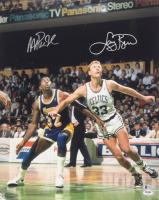 Magic Johnson & Larry Bird Signed 16x20 Photo (Beckett COA & PSA COA) at PristineAuction.com