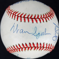 300 Win Club OML Baseball Signed by (8) With Nolan Ryan, Tom Seaver, Don Sutton, Warren Spahn with Inscriptions (JSA COA) at PristineAuction.com