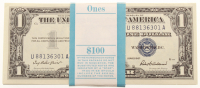 Lot of (100) 1957 $1 One Dollar Blue Seal Silver Certificates with Consecutive Serial Numbers at PristineAuction.com
