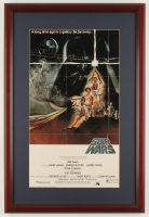 """Star Wars: Episode IV -  A New Hope"" 16.75x25 Custom Framed Movie Poster Display at PristineAuction.com"