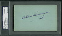 """Alec Guinness Signed 3x5 Cut Inscribed """"1971"""" (PSA Encapsulated) at PristineAuction.com"""