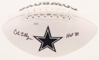 "Bob Lilly Signed Cowboys Logo Football Inscribed ""HOF 1980"" (JSA COA) at PristineAuction.com"