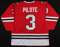 """Pierre Pilote Signed Jersey Inscribed """"H.O.F. 75"""" (JSA COA) at PristineAuction.com"""