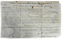 Andrew Jackson Signed 1829 Land Grant Document (Beckett COA) at PristineAuction.com