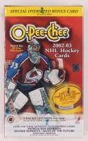 2002/03 Topps O-Pee-Chee Hockey Blaster Box of (81) Cards at PristineAuction.com