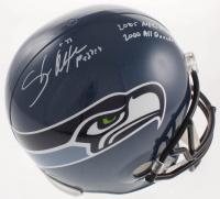 "Shaun Alexander Signed Seahawks Full-Size Helmet Inscribed ""2005 NFL MVP"" & ""2000 All Decade Team"" (Beckett COA) at PristineAuction.com"