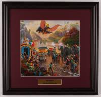 "Thomas Kinkade Walt Disney's ""Dumbo"" 18x18.5 Custom Framed Print Display at PristineAuction.com"