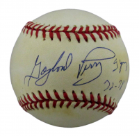 """Gaylord Perry Signed ONL Baseball Inscribed """"Cy Young 72-78"""" (JSA COA) at PristineAuction.com"""