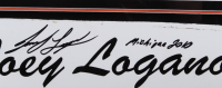 """Joey Logano Signed NASCAR 22x26 Custom Framed Race-Used Name Plate Sheet Metal Display Inscribed """"Michigan 2010"""" (PA COA) at PristineAuction.com"""