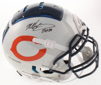 "Mike Singletary Signed Bears Full-Size Authentic On-Field Hydro-Dipped F7 Helmet Inscribed ""HOF 98"" (JSA COA) at PristineAuction.com"