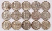 Lot of (15) 1964 Kennedy Half Dollars at PristineAuction.com