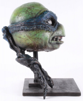 "Kevin Eastman Signed ""Teenage Mutant Ninja Turtles"" - Leonardo - Life-Size Hand-Painted Sculpture by Tate Steinsiek (PA COA) (1/1) at PristineAuction.com"