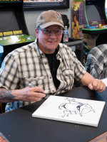"Kevin Eastman Signed ""Teenage Mutant Ninja Turtles"" - Bebop - Life-Size Hand-Painted Sculpture by Tate Steinsiek (PA COA) (1/1) at PristineAuction.com"
