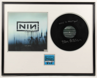 "Trent Reznor Signed LE Nine Inch Nails 23x29 Custom Framed Vinyl Record Display Inscribed ""Nice to Meet You!"" (Beckett LOA) at PristineAuction.com"