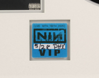 """Trent Reznor Signed LE Nine Inch Nails 23x29 Custom Framed Vinyl Record Display Inscribed """"Nice to Meet You!"""" (Beckett LOA) at PristineAuction.com"""