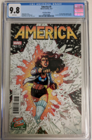 "2017 ""America"" Issue #1 Coast to Coast Comic Con Exclusive Joyce Chin Variant Marvel Comic Book (CGC 9.8) at PristineAuction.com"