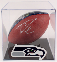 "Russell Wilson Signed ""2015 NFL Record Breaking Season"" Football with Display Case (Wilson Hologram) at PristineAuction.com"