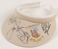 U.S. Open Championship 1996 Visor Signed by (6) with Jack Nicklaus, Phil Mickelson, Steve Yzerman, Steve Strickerm, Ernie Els (JSA COA) at PristineAuction.com