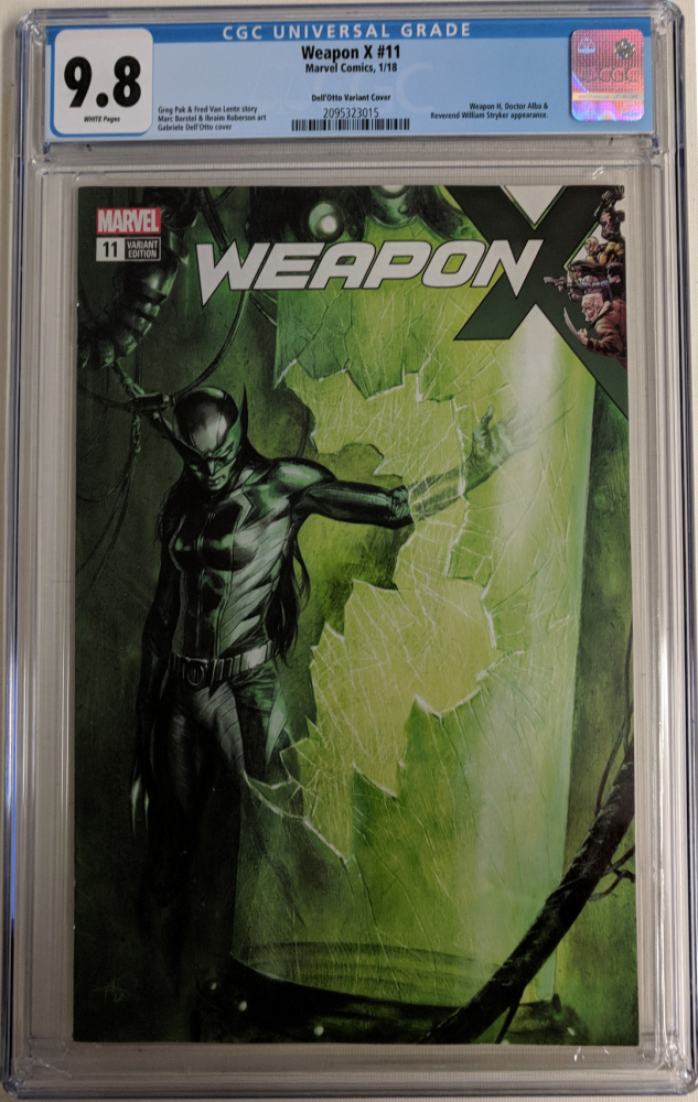 """2017 """"Weapon X"""" Issue #11 Gabriele Dell'Otto Limited Variant Marvel Comic Book (CGC 9.8) at PristineAuction.com"""