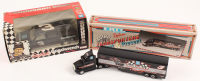 Lot of (2) Dale Earnhardt Sr. Die-Cast Cars with #3 Goodwrench 1992 Suburban Bank & 1993 Winston Cup Champions Logo Semi-Truck at PristineAuction.com