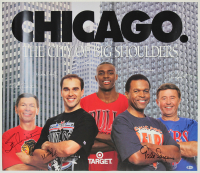 Chicago Greats 26x30 Poster Signed by (4) With Gale Sayers, Ron Santo, Stan Mikita & Mike Huff (Beckett LOA) at PristineAuction.com