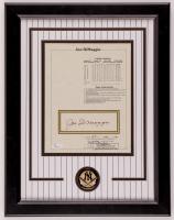 Joe DiMaggio Signed 14x18.5 Custom Framed Lifetime Statistics Display (JSA LOA) at PristineAuction.com