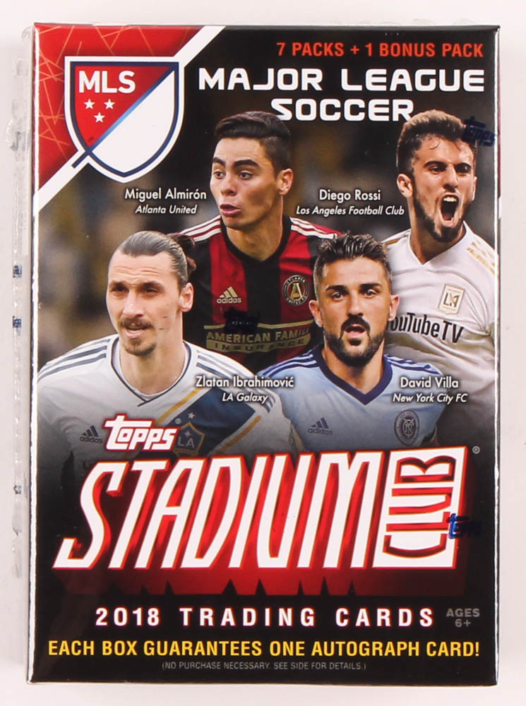 2018 Topps Stadium Club Mls Soccer Blaster Box Of 53 Cards Pristine Auction