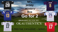 OKAUTHENTICS NFL Go for 2 Mystery Jersey Box Series 1 (Limited 100) at PristineAuction.com