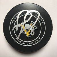 Mark Recchi Signed Penguins Logo Hockey Puck with Display Case (Beckett COA) at PristineAuction.com