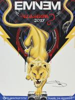 Eminem Signed 2017 Glasgow 18x24 Poster (JSA LOA) at PristineAuction.com