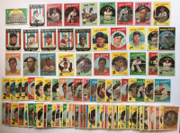 Lot of (140) 1959 Topps Baseball Cards with #111 Cincinnati Red-Legs Team Card, #116 Bob Allison RC, #409 Gus Zernial, #413 Camilo Pasqual, #414 Dale Long, #445 Cal McLish at PristineAuction.com