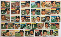 Lot of (34) 1956 Topps Baseball Cards with #187 Early Wynn, #280 Jim Gilliam, #218 Joe Nuxhall, #88 Johnny Kucks, #21 Joe Collins, #50 Dusty Rhodes at PristineAuction.com