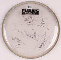 "Dave Matthews Band 8.5"" Drumhead Band-Signed by (5) with Dave Mathews, Carter Beauford, Boyd Tinsley, LeRoi Moore & Stefan Lessard (Beckett LOA) at PristineAuction.com"