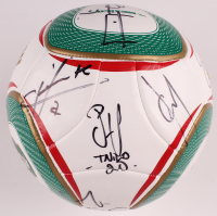 "2010 Mexico National Team Soccer Ball Team-Signed by (12) with Cuauhtemoc Blanco, Javier ""Chicharito"" Hernandez, Israel Castro with Multiple Inscriptions (Beckett LOA) at PristineAuction.com"