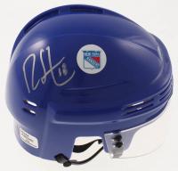 Ryan Strome Signed Rangers Mini Helmet (Ryan Strome Hologram) at PristineAuction.com