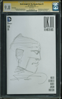 "Frank Miller Signed 2016 ""The Dark Knight III: The Master Race"" Issue #1 DC Comic Book With Hand-Drawn Sketch (CGC 9.8) at PristineAuction.com"