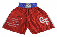 George Foreman Signed Boxing Trunks (Beckett COA) at PristineAuction.com