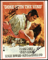 """""""Gone with the Wind"""" 8x10 Photo Cast-Signed by (7) with Olivia de Havilland, Butterfly McQueen, Ann Rutherford, Cammie King with Multiple Inscriptions (PSA LOA) at PristineAuction.com"""