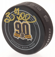 Brad Marchand Signed Bruins 90th Anniversary Logo Hockey Puck (Marchand COA) at PristineAuction.com