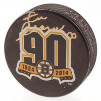 Zdeno Chara Signed Bruins 90th Anniversary Logo Hockey Puck (Chara COA) at PristineAuction.com