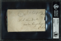 James A. Garfield Signed Free Frank 3.25x5.5 Cut With Multiple Inscriptions (BAS Encapsulated) at PristineAuction.com