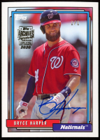 Bryce Harper 2020 Topps Archives Signature Series #1 at PristineAuction.com